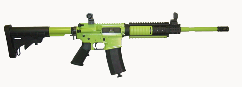 "16"" AR15/M4 ""Zombie"" lime green Moly coated"